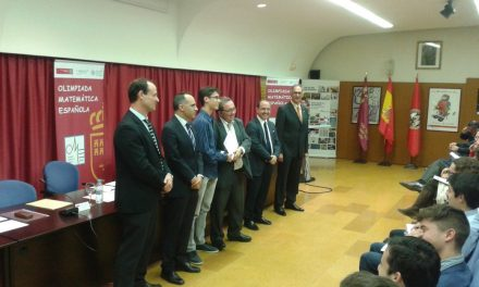 Emilio Domínguez, primer premio en la fase local de la LIII Olimpíada Matemática Española