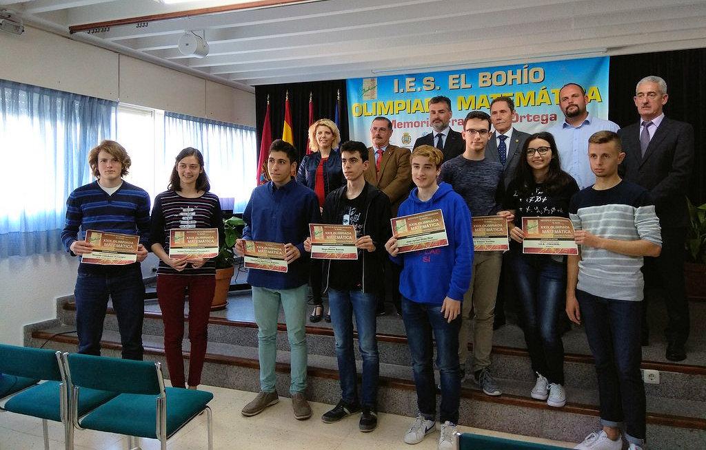 Nicolás Colchero, segundo premio en la XXIX Olimpíada Matemática del IES «El Bohío»
