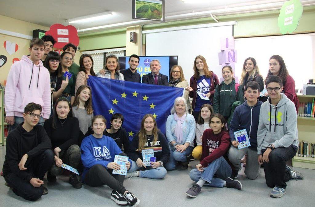 """Escuelas Embajadoras: Charla """"Tú eres Europa"""""""