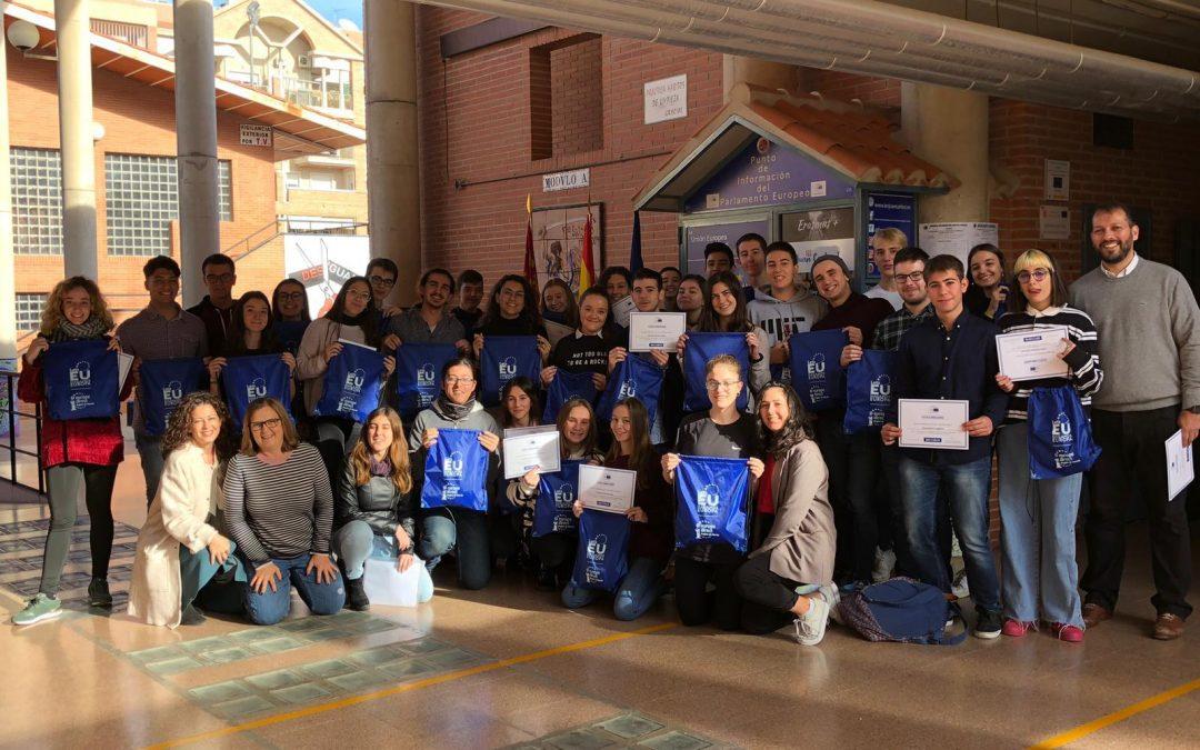 Escuelas Embajadoras: diplomas a Embajadores Junior del Parlamento Europeo