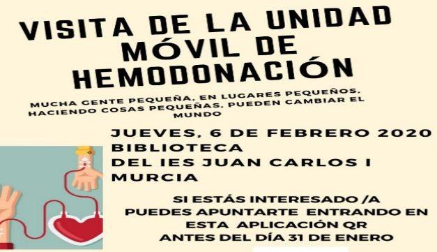 """""""Gotas de vida"""": Donación de sangre en el IES Juan Carlos I"""