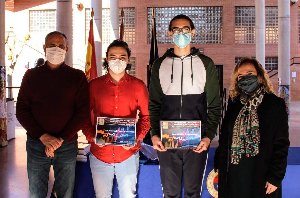 Alumnos premiados en la XXXI Olimpíada Matemática del IES «El Bohío»