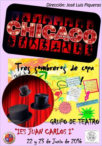 Actuaciones del grupo de teatro del IES: «Chicago» y «Tres sombreros de copa»