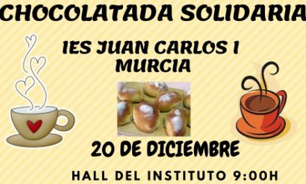Chocolatada solidaria en el IES Juan Carlos I