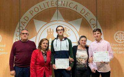 Dos alumnos del IES Juan Carlos I premiados en laLVI Olimpiada Matemática Española