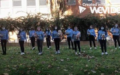 Las alumnas de 2º curso del CFGS de Educación Infantil del IES Juan Carlos I de Murcia celebran el día de los Derechos de la Infancia