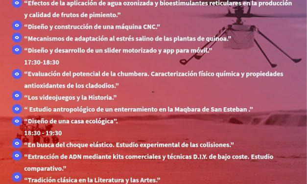 Presentación de trabajos del alumnado del Bachillerato de Investigación 2020-21