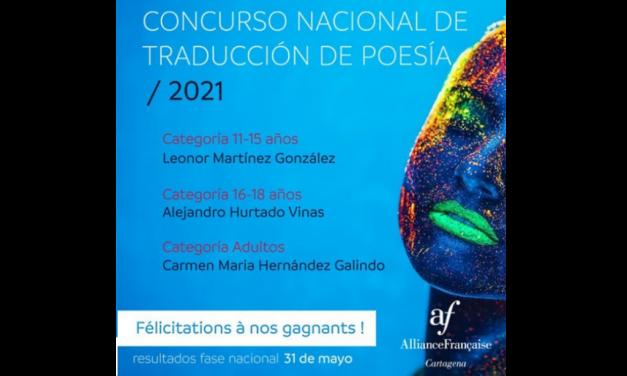 """Un alumno de nuestro centro, ganador de la fase local del Concurso Nacional de Traducción de Poesía 2021 """"Le Désir. El Deseo"""""""